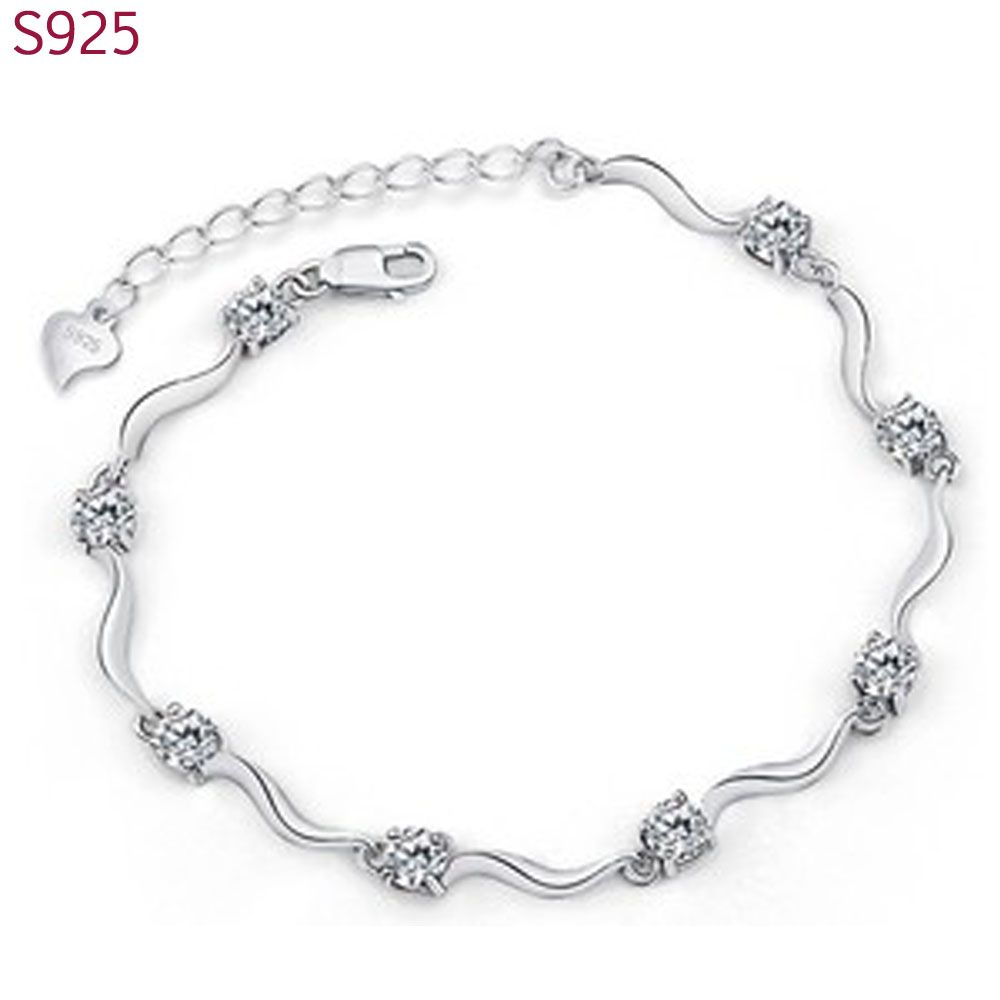 Real pure solid sterling silver bracelets bangles for women fine