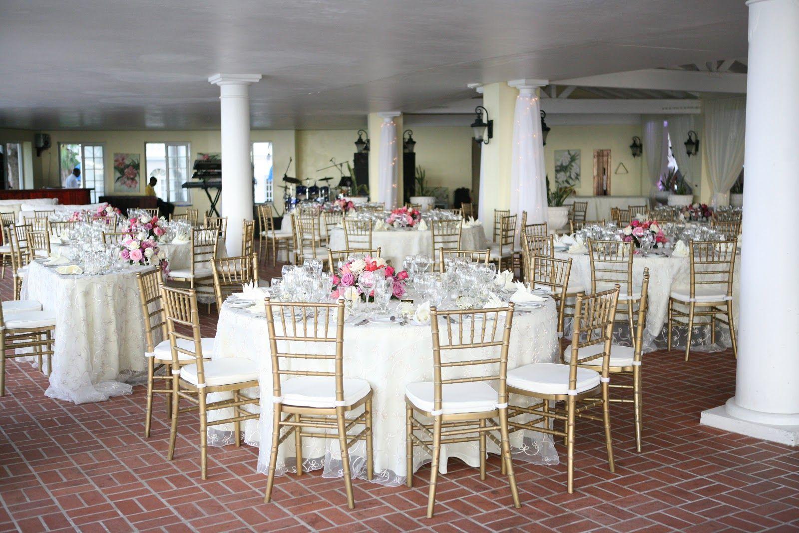 Reception Set Up At The Oleander Terrace Halfmoonresort Half Moon