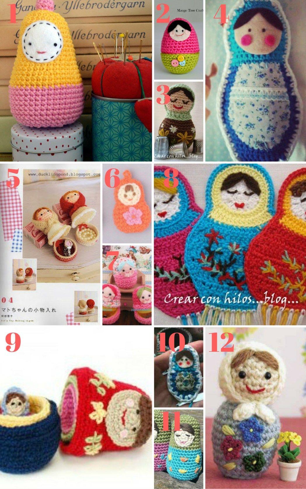 Free Matryoshka Crochet Patterns | Yarn Arts | Muñecos de ganchillo