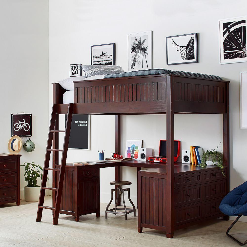 Hampton Vanity Tower & Super Set PBteen Loft bed