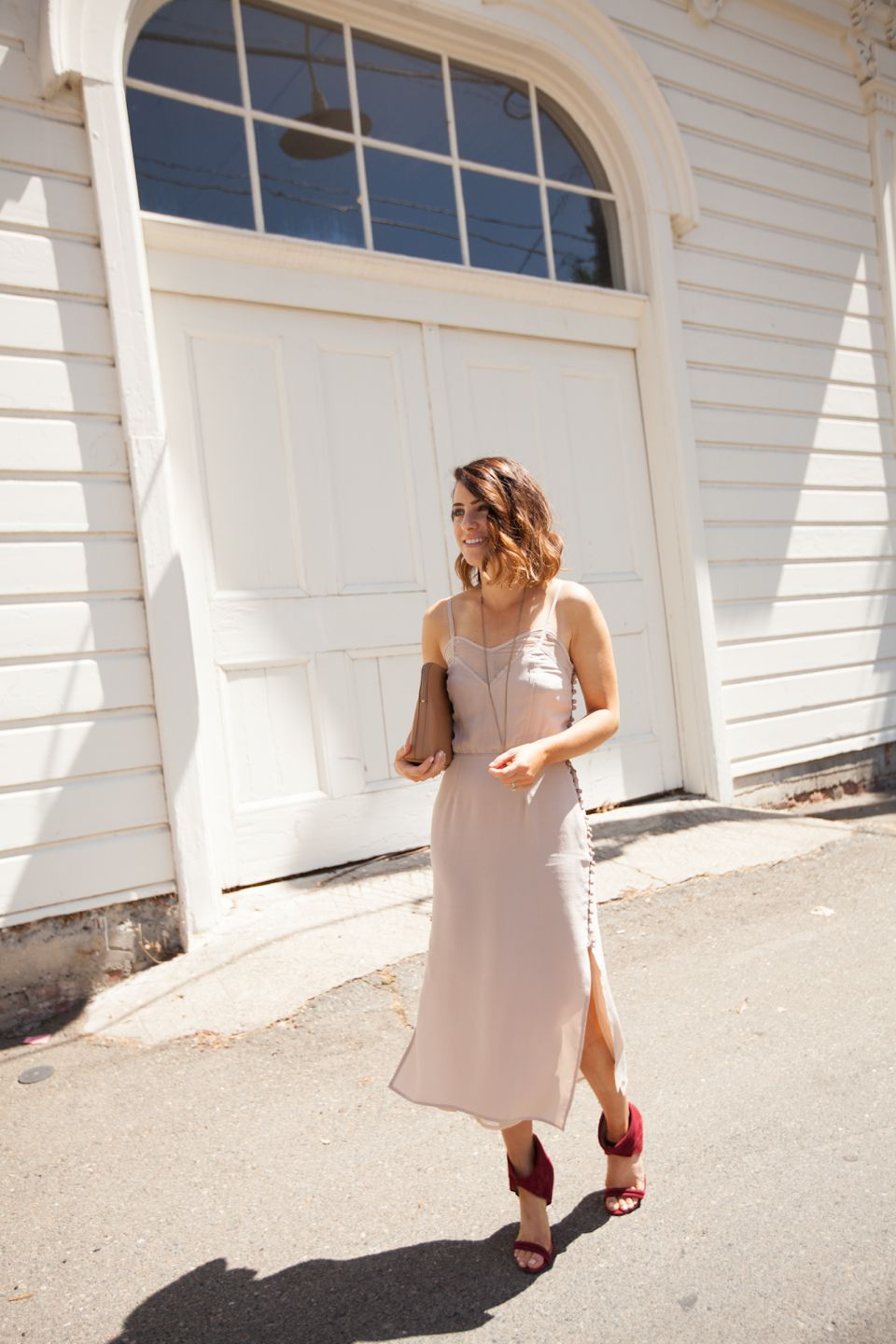 Pale pink dress for wedding guest  Riches for Rags  Boho style  Pinterest  Wedding guest attire