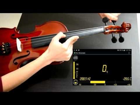 Como Afinar El Violin Youtube Violines Partituras Digitales Clases De Violin