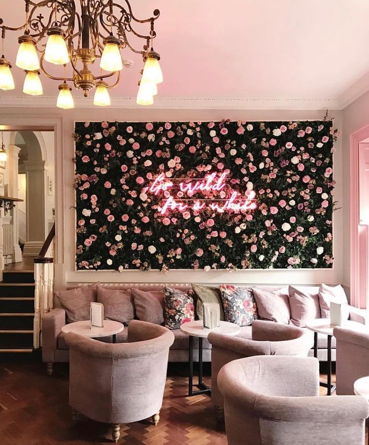 London Blossom Coffee Shop in London, England. Cute cafe