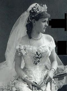 A Vintage Wedding Dress Perhaps From The Early 1900s Or Late 1800s