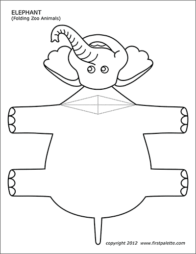 Folding Zoo Animal Templates Free Printable Templates Coloring Pages Firstpalette Com Animal Printables Zoo Animals Animal Templates