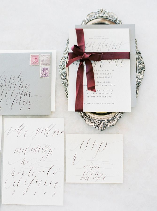 // Elegant invites: http://www.stylemepretty.com/2015/07/28/glamorous-romantic-wedding-inspiration-at-the-villa-sevillano/ | Photography: Sally Pinera - http://sallypinera.com/
