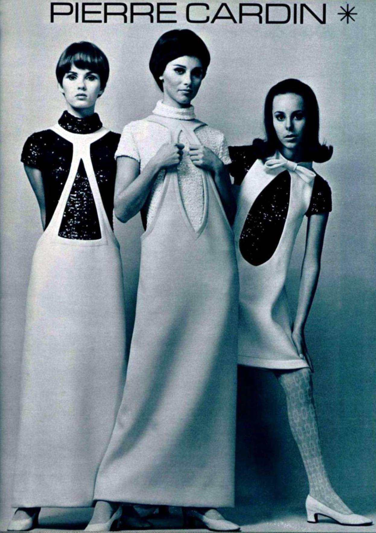 Pierre Cardin Ad 1960s Retro Fashion Vintage Vintage