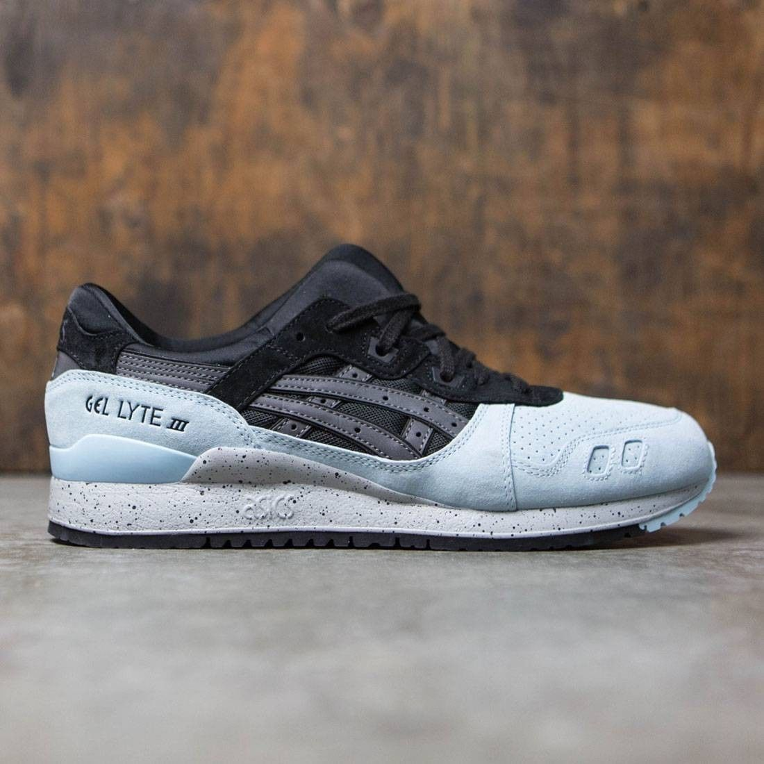Asics Gel Lyte III Black & Powder Blue scarpa
