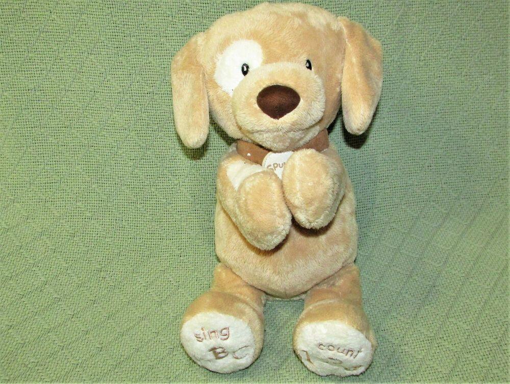 Baby Gund Spunky Animated Puppy Dog Plush Abc 123 Sings Talks 10