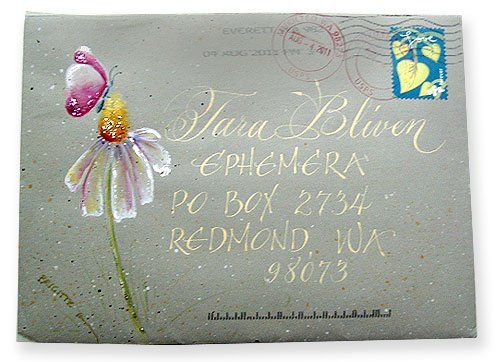 Summer envelope by brigitte hefferan for the elevated envelope mail