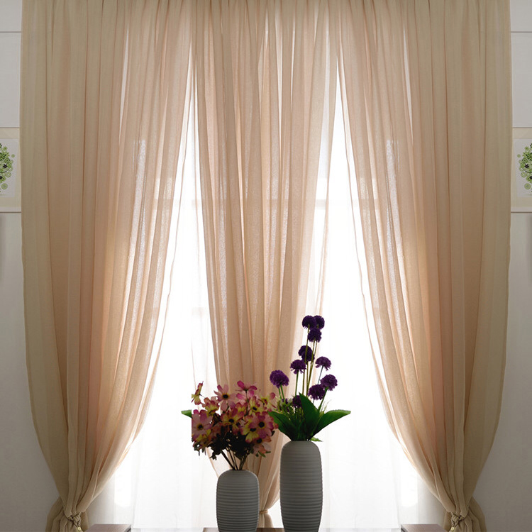 Romantic Beige Color Sheer Lace Curtains Lace Curtains Lace Curtains Living Room Sheers Curtains Living Room