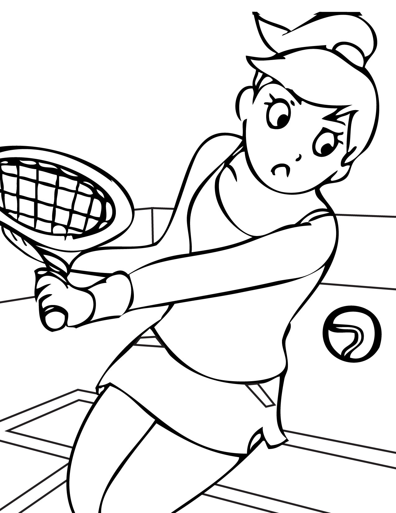 sports printable coloring pages - Sports Drawing Pictures