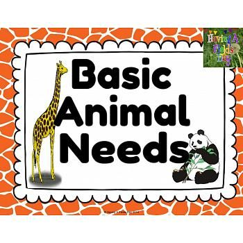 basic animal needs mini posters and worksheets projects to try animal worksheets animals. Black Bedroom Furniture Sets. Home Design Ideas