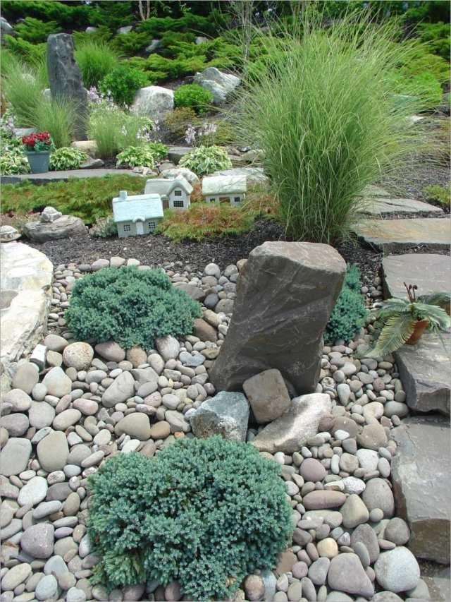 Steingarten Bilder Beispiele steingarten beispiele ziergras flache steine zwerggehölze | gärten