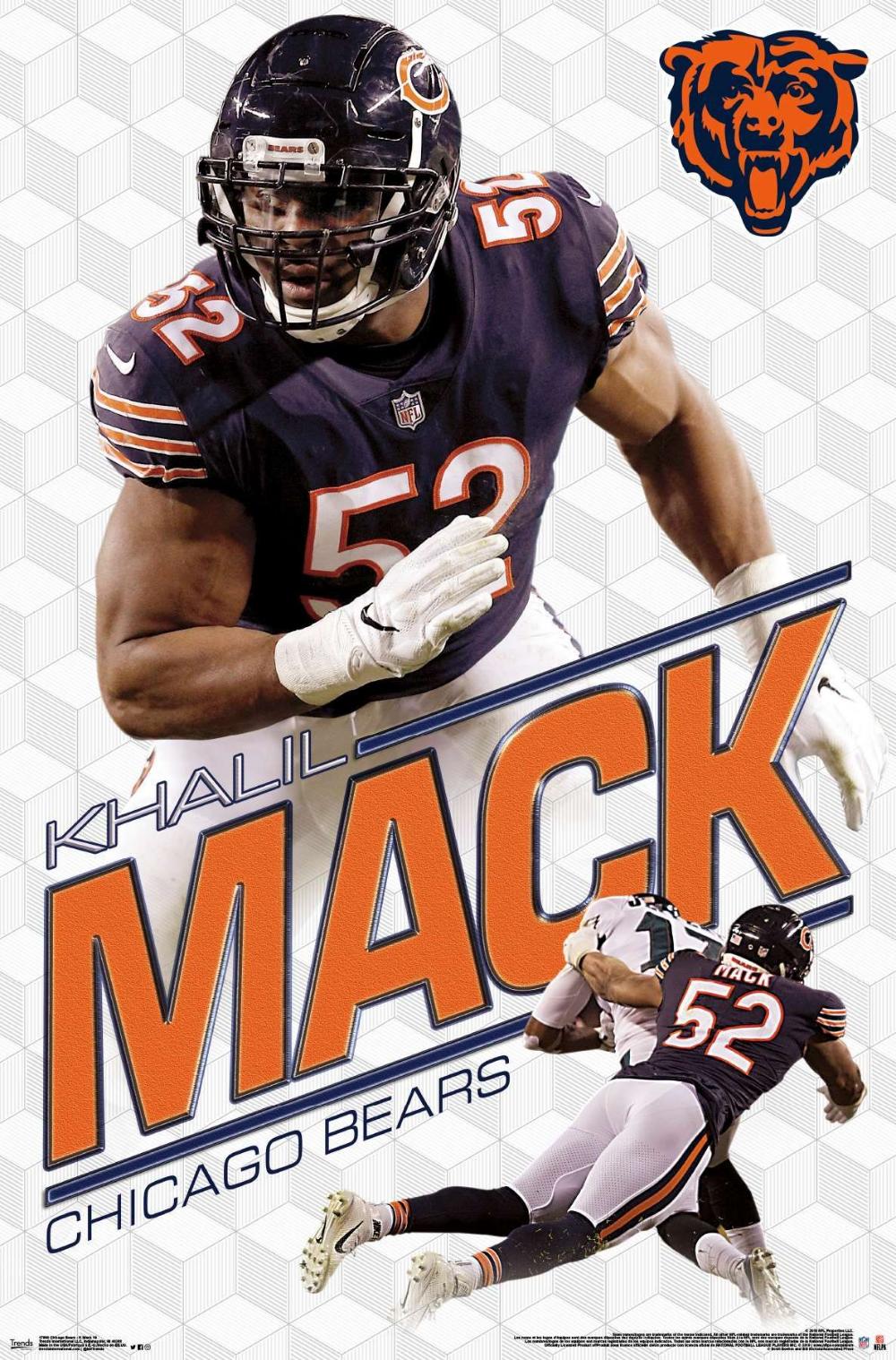 Nfl Chicago Bears Khalil Mack 19 Chicago Bears Pictures Chicago Bears Wallpaper Chicago Bears