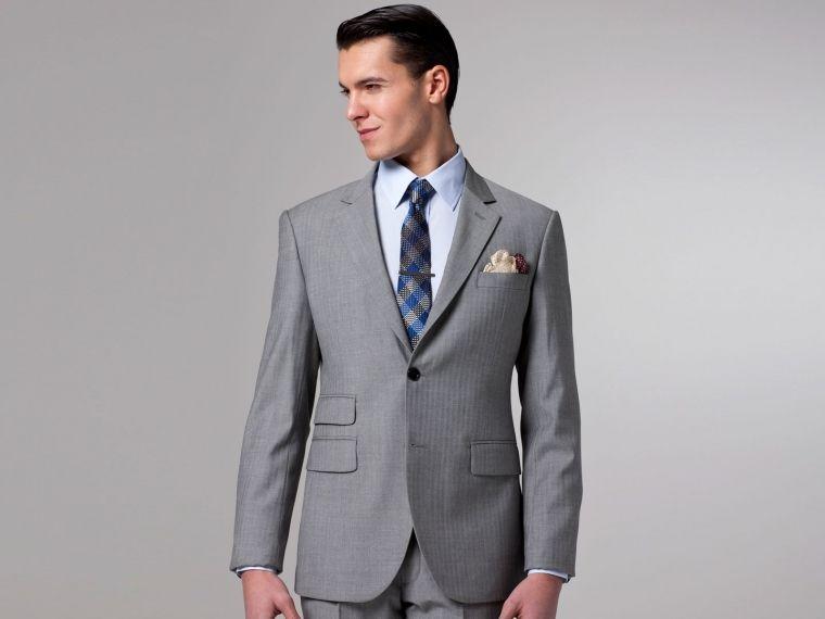 Essential Gray Herringbone Suit