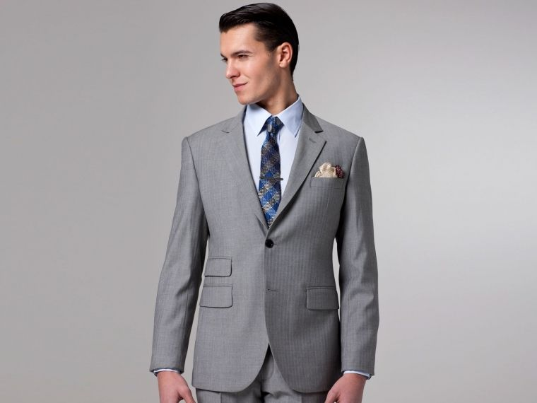 Essential Gray Herringbone Suit | Herringbone suit, Herringbone ...
