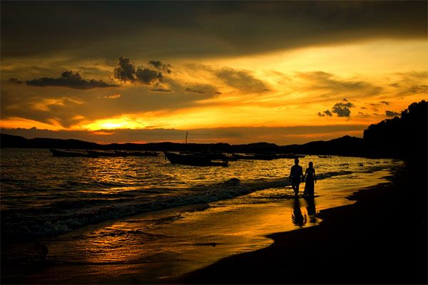 ...walk with my love on the beach at sunset