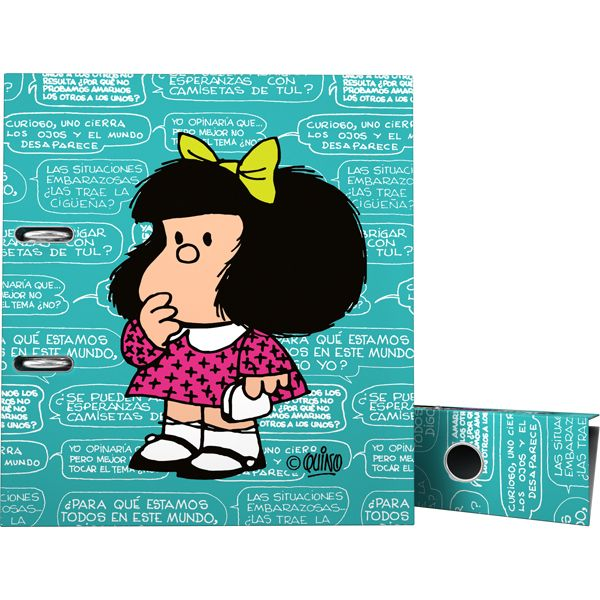 Archivador de palanca de mafalda 2016 oficina escolar for Archivadores para oficina