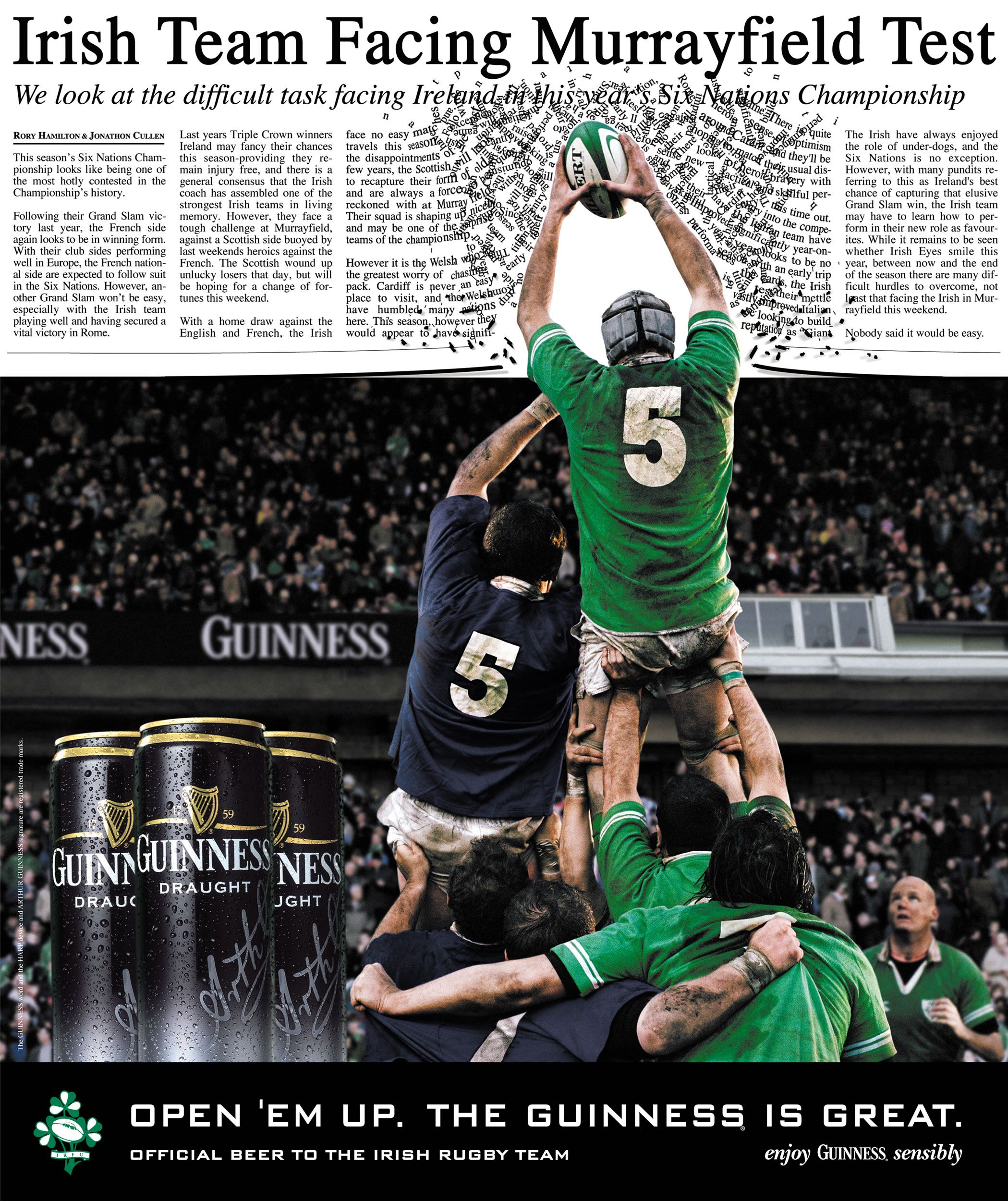Guinness Rugby Irish Rugby Sports Advertising Rugby