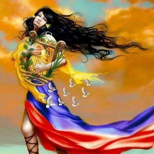 FELIZ DÍA DE LAS MADRE VENEZUELA Llevo tu luz y tu aroma en mi piel; y el cuatro en el corazón. Llevo en mi sangre la espuma del mar y tu horizonte en mis ojos. No envidio el vuelo ni el grito al turpial soy como el viento en la mies. Siento el Caribe como una mujer soy así que voy a hacer. Soy desierto selva nieve y volcán y al andar dejo mi estela; y el rumor del llano en una canción que me desvela. La mujer que quiero tiene que ser corazón fuego y espuela con la piel tostada como una flor…