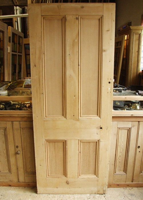 Antique Pine 4 Panel Victorian Internal Door - Antique Pine 4 Panel Victorian Internal Door Doors In 2018