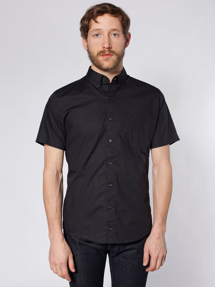 94cffd12a48b American Apparel RSACP401S - Poplin Short Sleeve Button-Up  americanapparel   buttonup