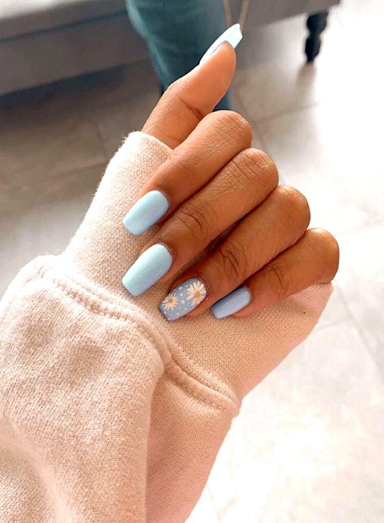 P I N T E R E S T Celyahama8 Short Acrylic Nails Designs Blue Acrylic Nails Simple Acrylic Nails