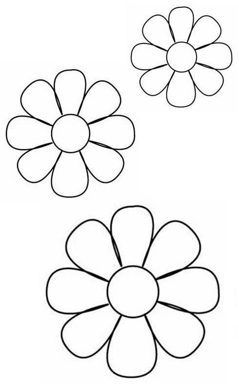 Margaritas flores Pinterest Margaritas, Template and Patterns - flower petal template