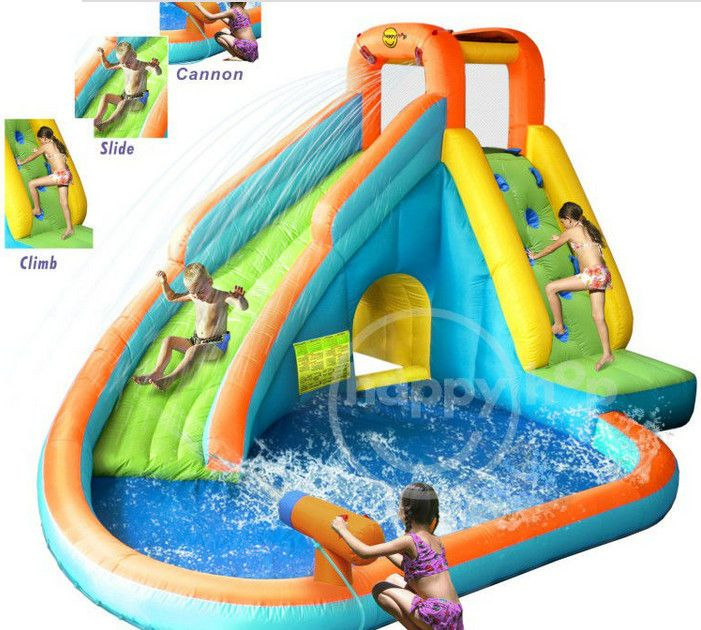 Kids Inflatable Water Parks Swimming Pool With Slide