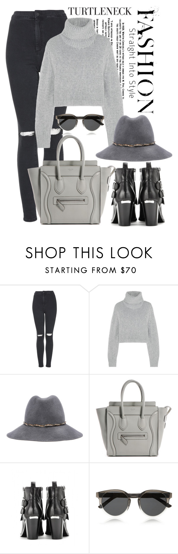 """""""Wardrobe Staple: The Turtleneck"""" by yumi-aug ❤ liked on Polyvore featuring Topshop, Dion Lee, Eugenia Kim, Burberry and The Row"""
