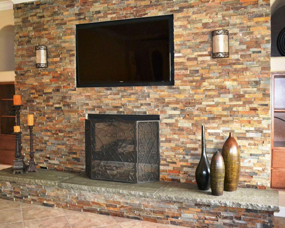 Stone Veneer Fireplace Ideas Brick Fireplace Remodel