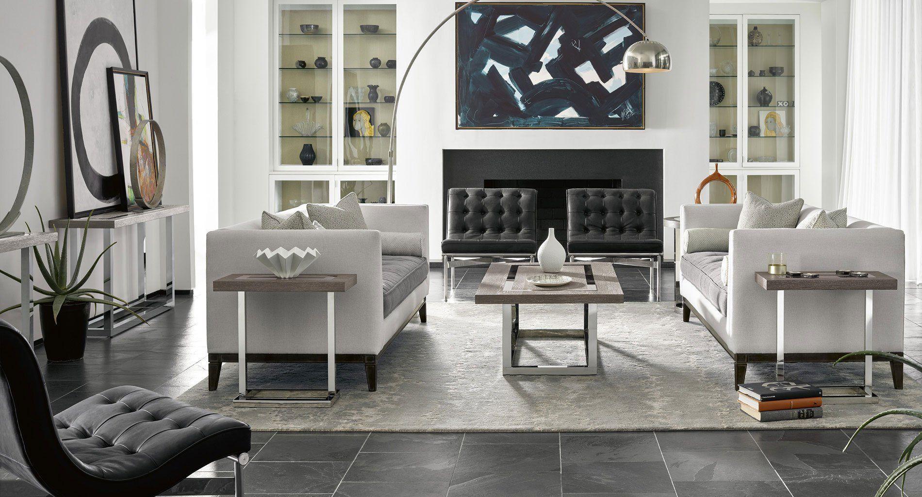 Monochrome Beauty Https Www Furniturecart Com Modern Wyatt Occasional Table Set Flint 645810 645802 Universal Furniture Html Home Home Decor Decor