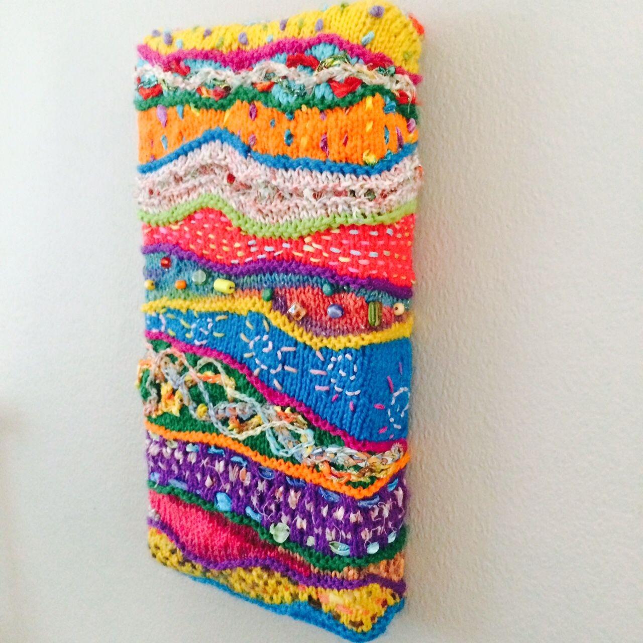 Textile canvas. Freeform knit stitch and crochet.   My handmade ...