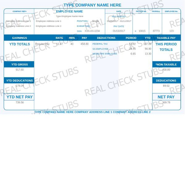 Real Paycheck Stubs Create Stub Fake Documents Pinterest - paycheck template word
