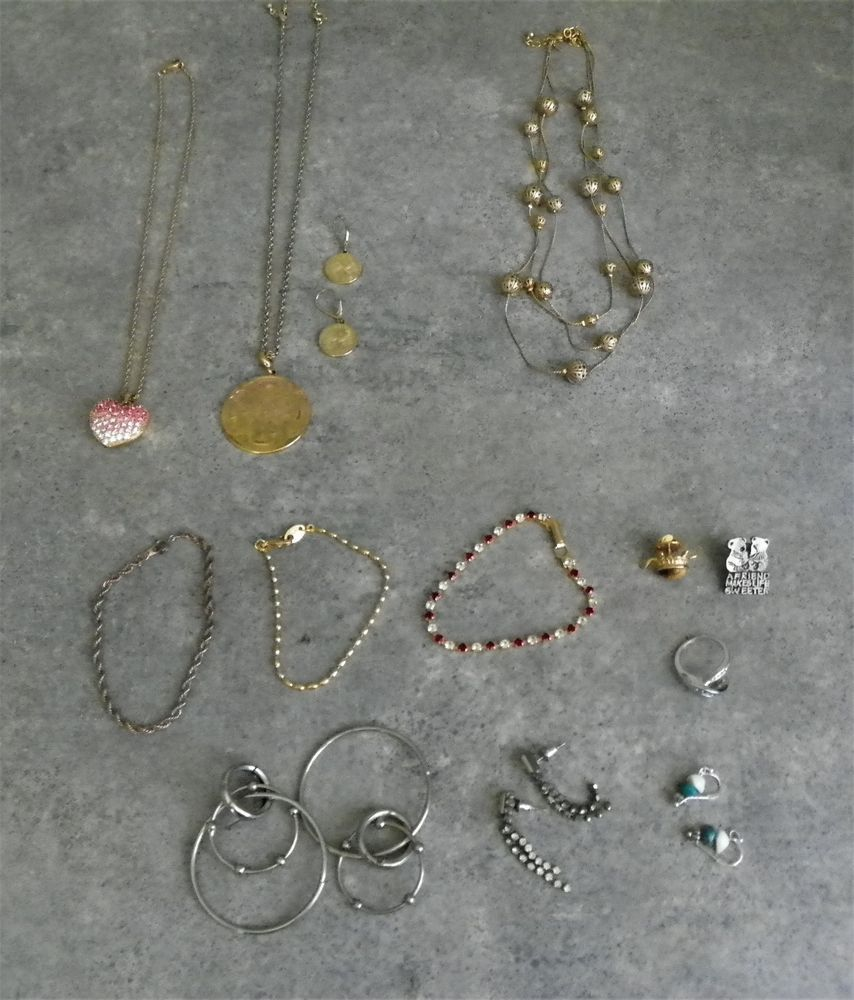 Details About Lot 26 Costume Fashion Jewelry Necklaces Earrings Recycled Circuit Board And Copper Red Glass Beads Geekery Rings Brooches Pendants Etc Unbranded