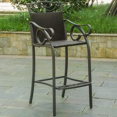 Charlton Home Stapleton 32 Patio Bar Stool #resinpatiofurniture