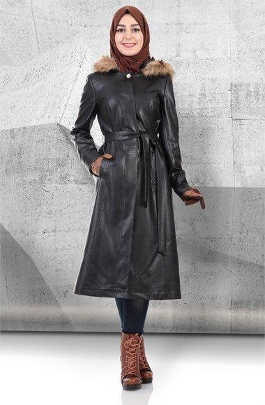 Tufe Cikarilabilir Kapusonlu Deri Kap 6k719 1 Derikap Kap Tesetturkap Derimanto Moda Stilleri Giyim Stil