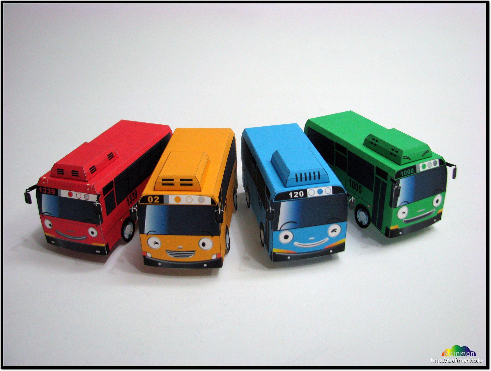 Tayo Little Bus Pepakura Papercraft Fun Pinterest Paper Crafts