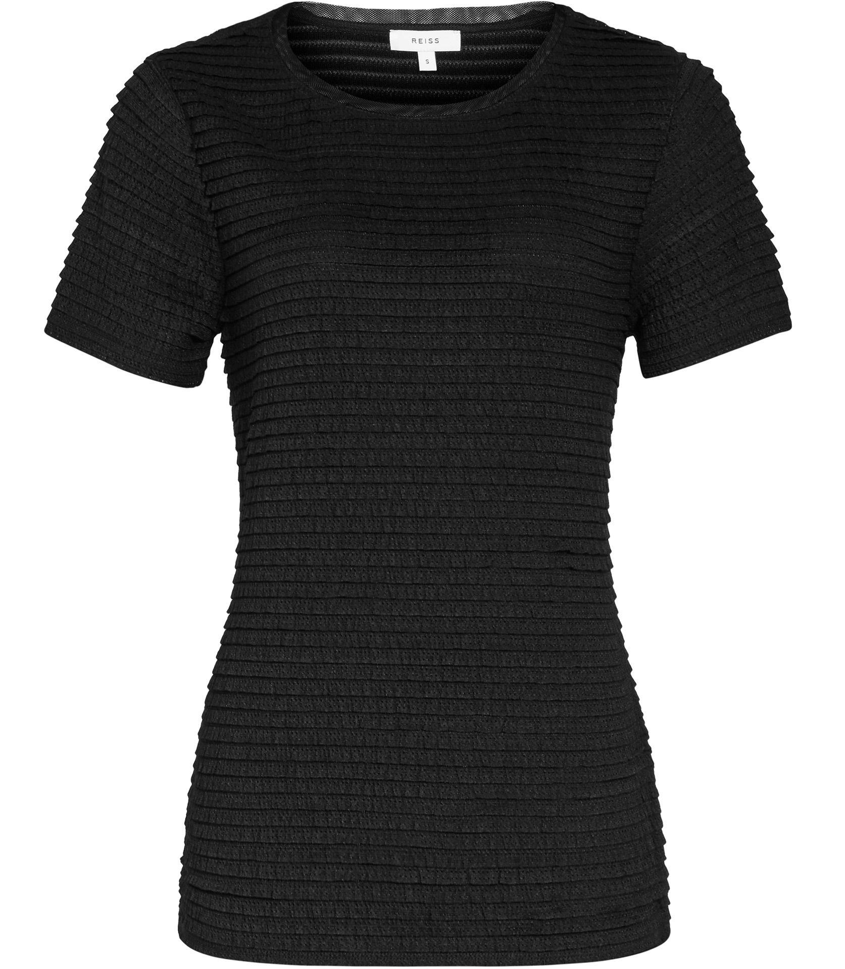 Black t shirt reiss - Womens Black Textured T Shirt Reiss Rewe
