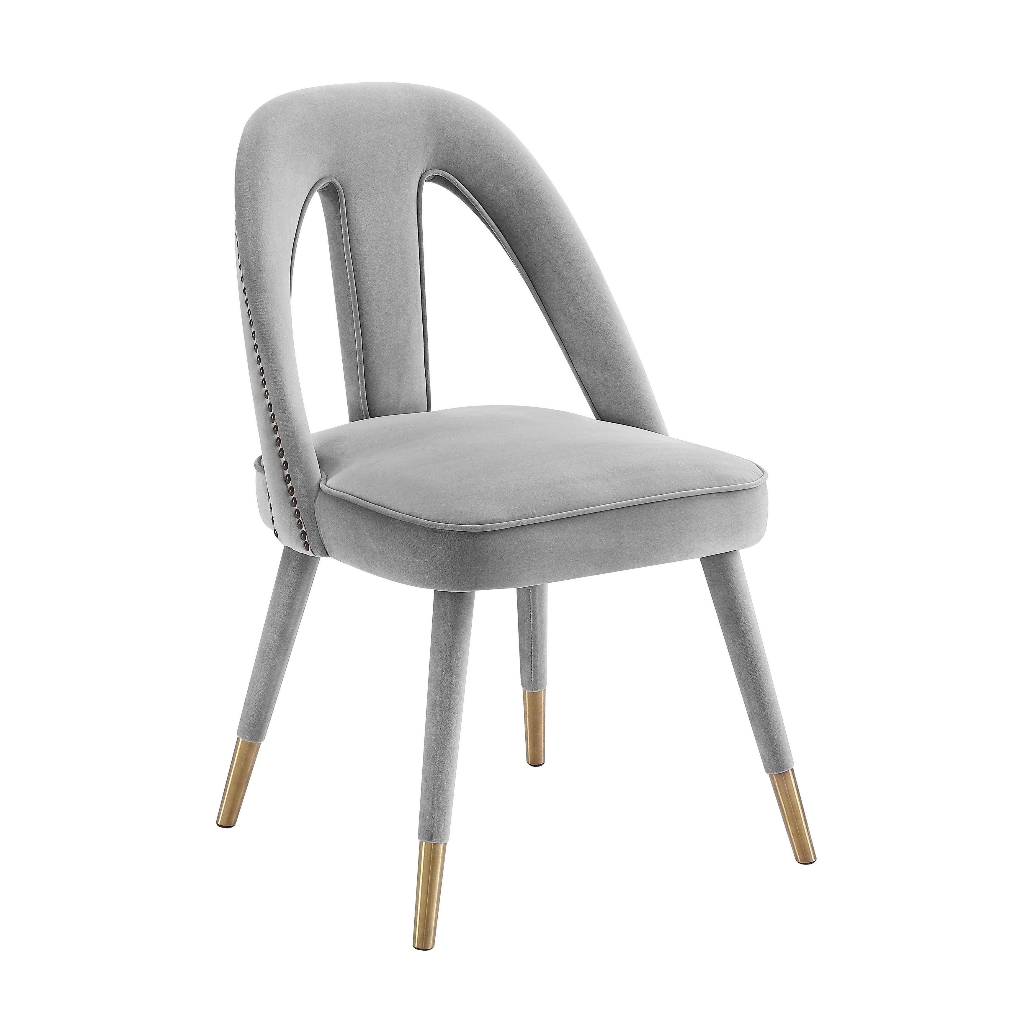 Carson carrington tasebo light grey velvet side chair n