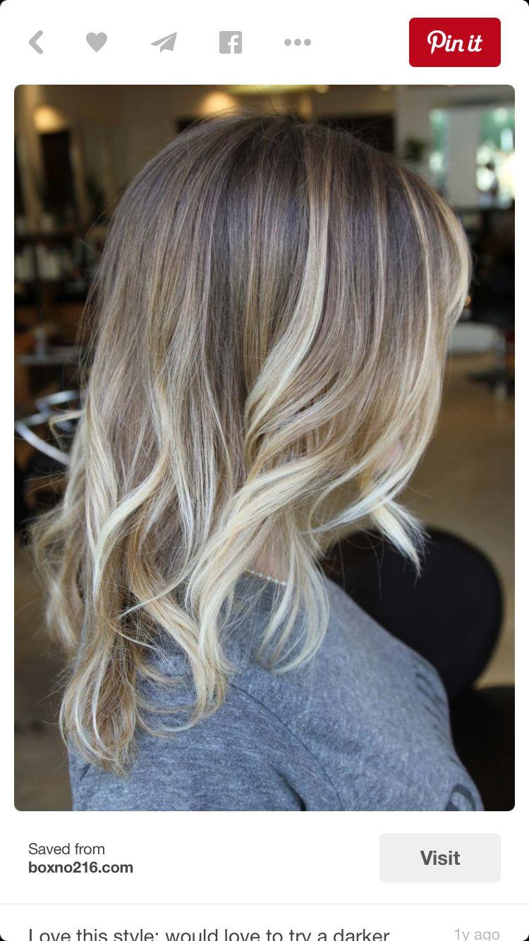 Blonde hair balyage