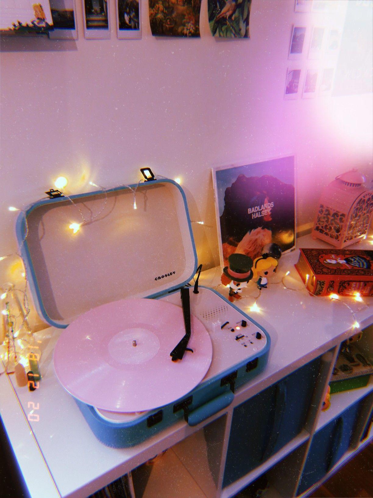 Vinyl Vinyl Aesthetic Halsey Pastel Tumblr Decoration Aesthetic Room Decor Retro Room Aesthetic Bedroom