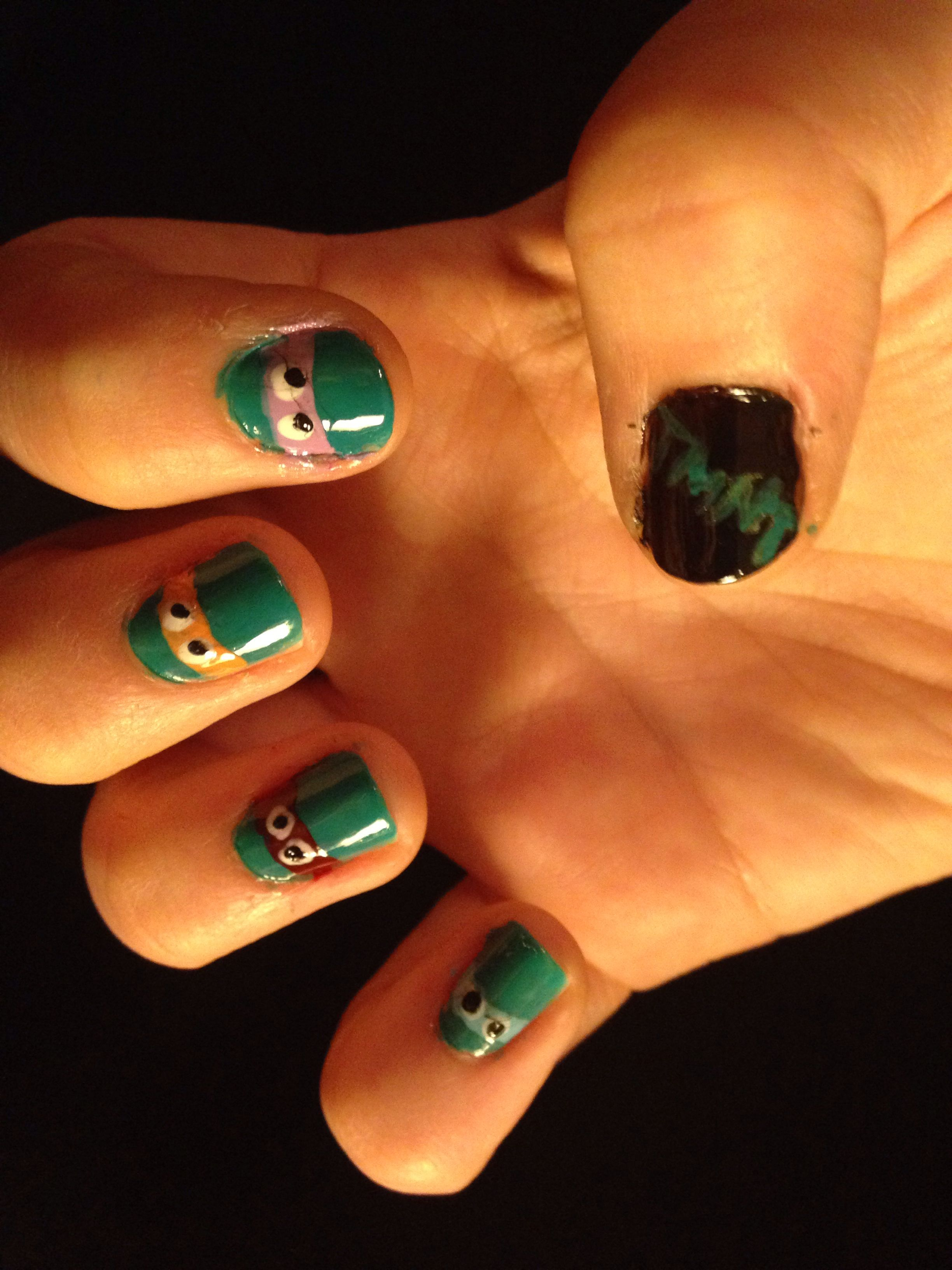 Teenager Easy Nail Art With Tape Step By Step ~ Nail Art Ideas