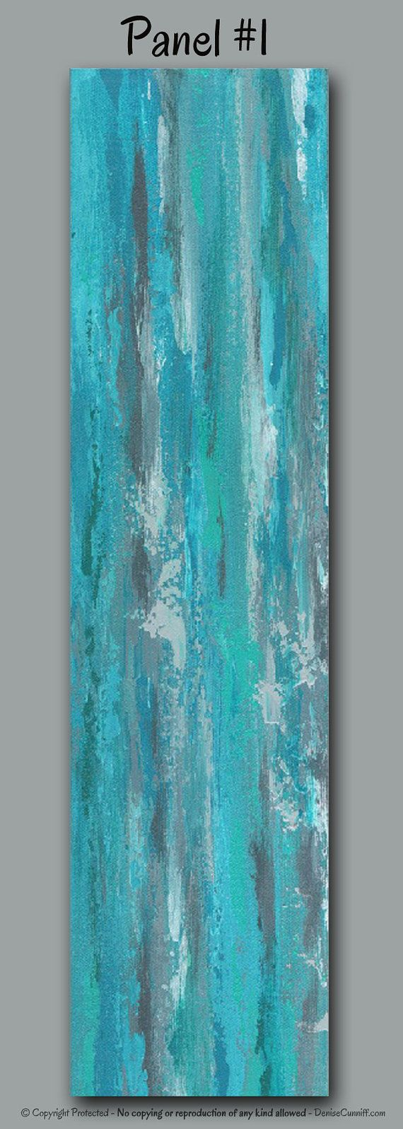 turquoise office decor. Turquoise Office Decor. Large Abstract Wall Art For Gray, Teal, And Home Decor I