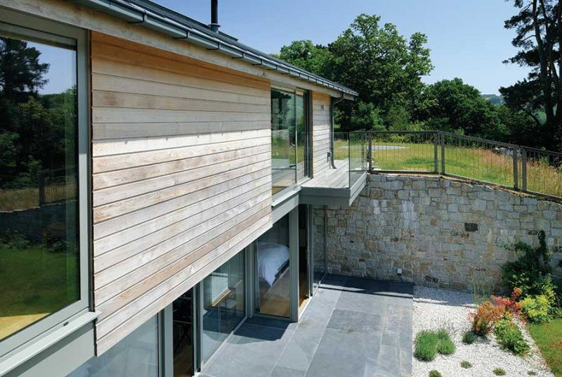 sloping site organic self build Building a house