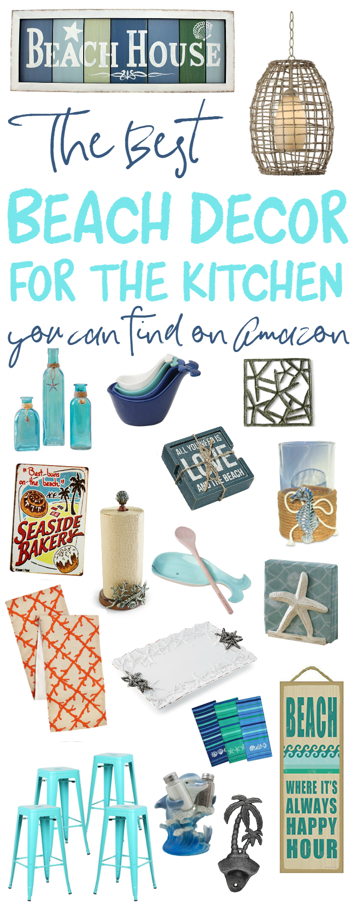 The Best Beach Decor For The Kitchen On Amazon For The Home