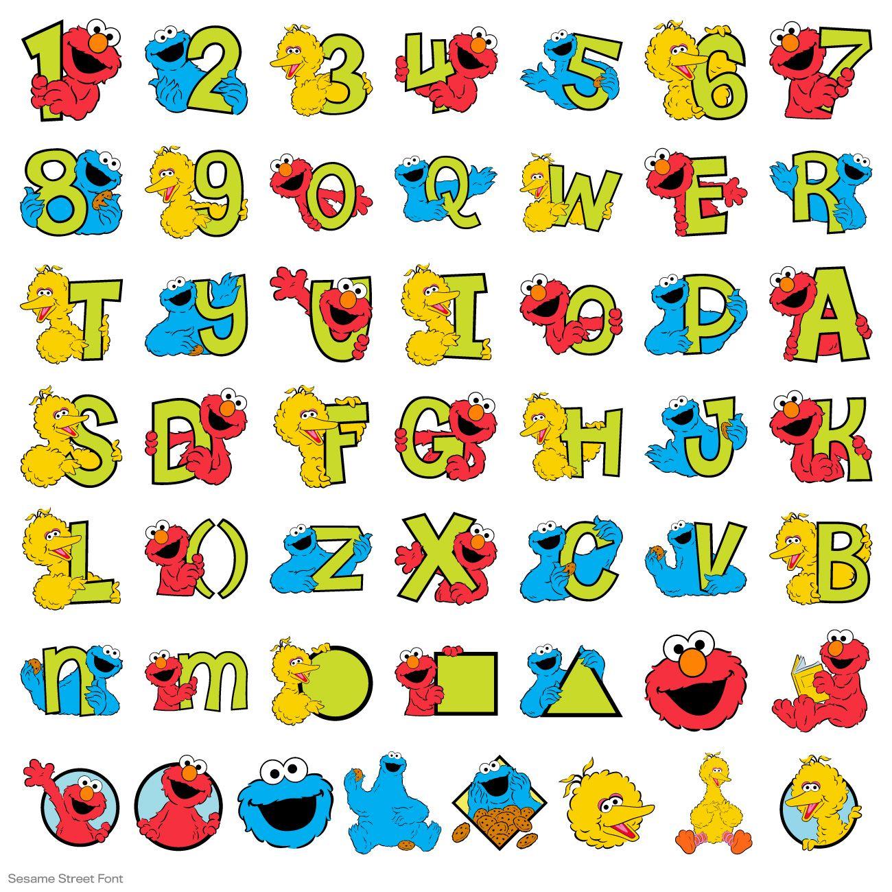 Sesame Street® Font - Sesame Street - Licensed Designs ...