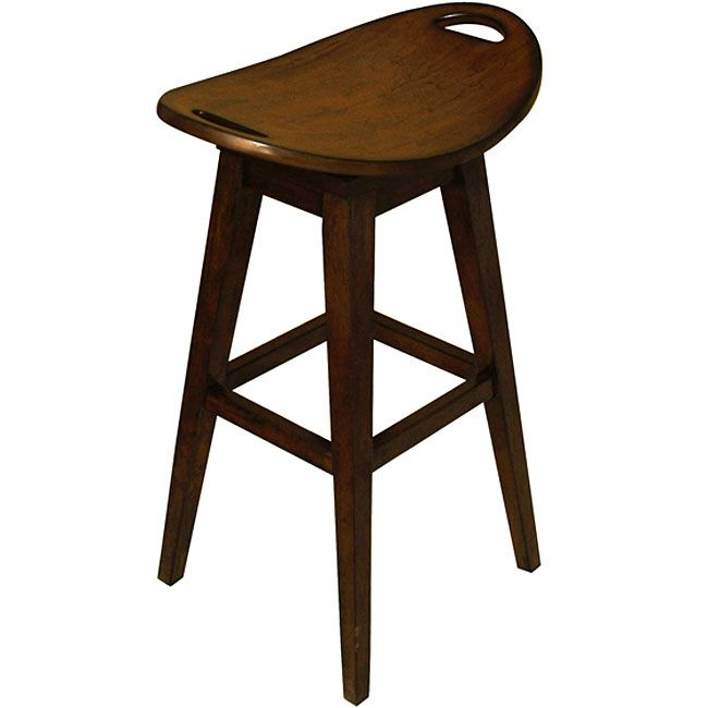 At 32 Inches High This Bar Stool Is The Ideal Solution To Seating Your Or Counter Finished In A Dark Espresso Brown Features Return