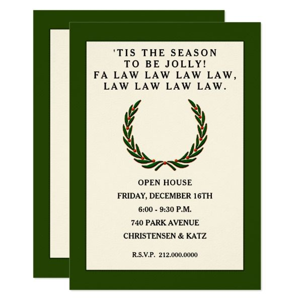 Law firm party invitations Party invitations